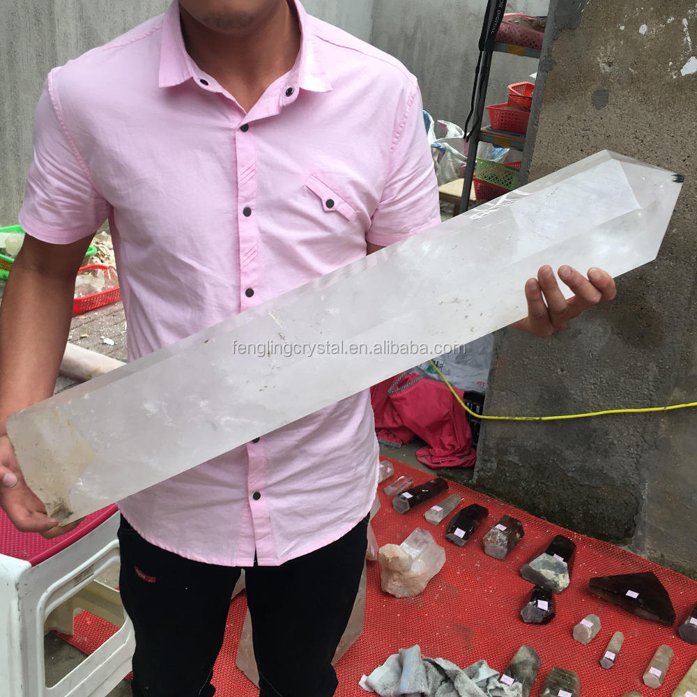 Wholesale Natural White Crystal Obelisk Large Point Wand For Decoration
