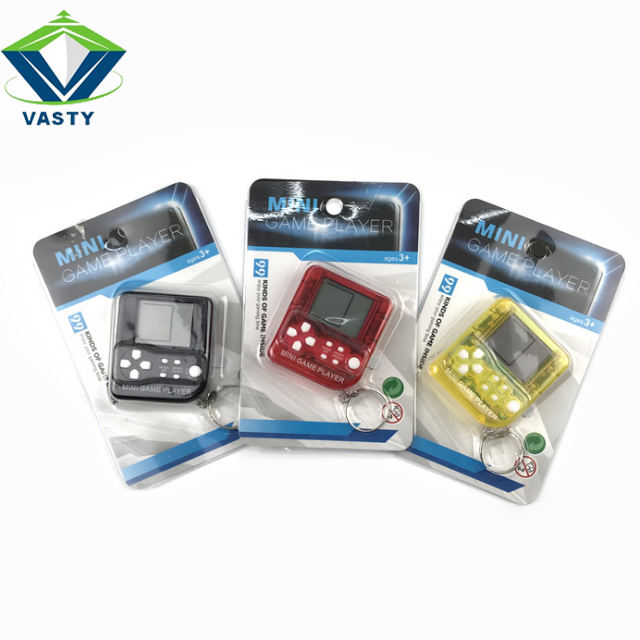 Tetris Brick Game Toys With Key Ring Mini pocket Items Electronic Toys 6colors Gift Toys Amaz Good Sales Best Quality