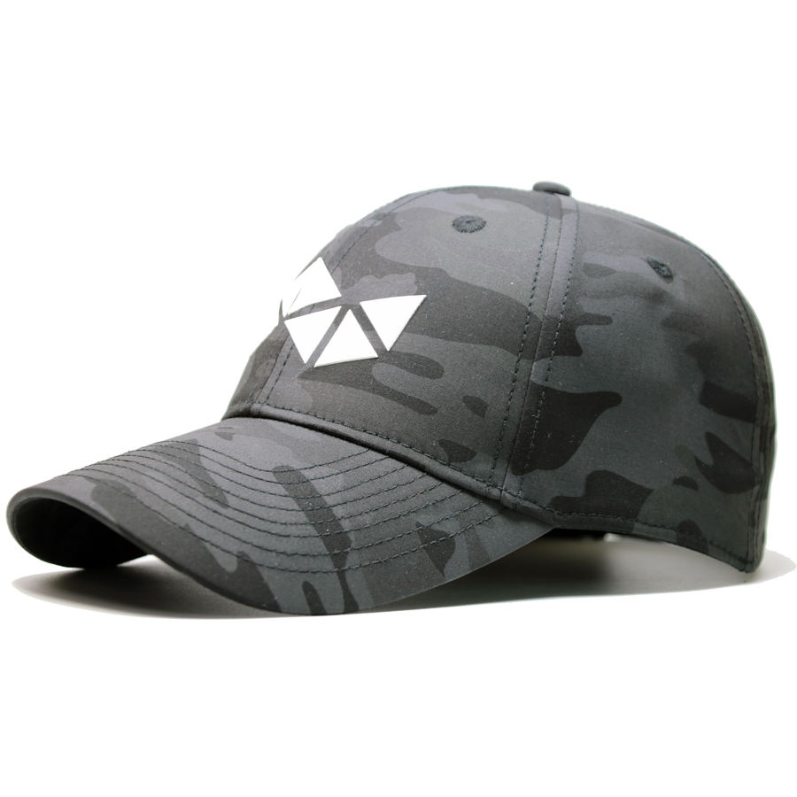 Custom Fashion Black Camo Hats 3D Embossing Dongguan Baseball Cap