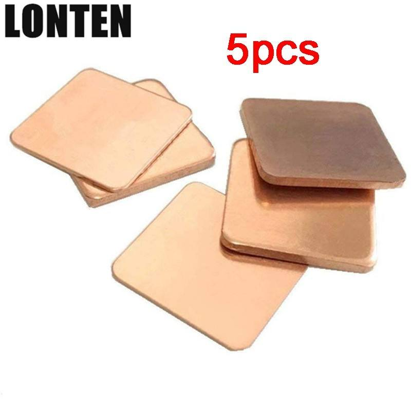 10 x Pads Pure Copper Shims Heat Sink Cooling Conductor 15mm x 1.2mm DV9000 DV