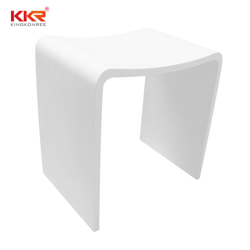China Stone Stool Shower Stool Wholesale Bathroom Furniture Acrylic Shower Stool
