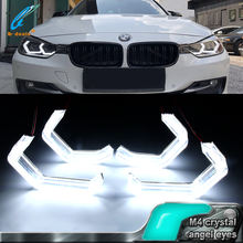 B-deals Concept M4 Style Iconic car LED Angel Eyes halo rings for BMW F30 F32 (335i) F82 and F80 (M3/M4)