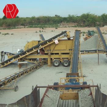 Easy Moving Movable Mobile Portable Rock Stone Basalt Crusher Mobile Crushing Machine Plant