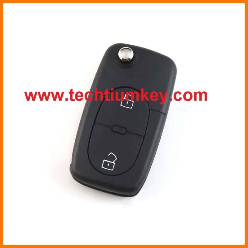 1616 pequeño <span class=keywords><strong>lugar</strong></span> de la batería 2 botón modificado plegable dominante alejado del tirón for VW Volkswagen Bora remoto clave