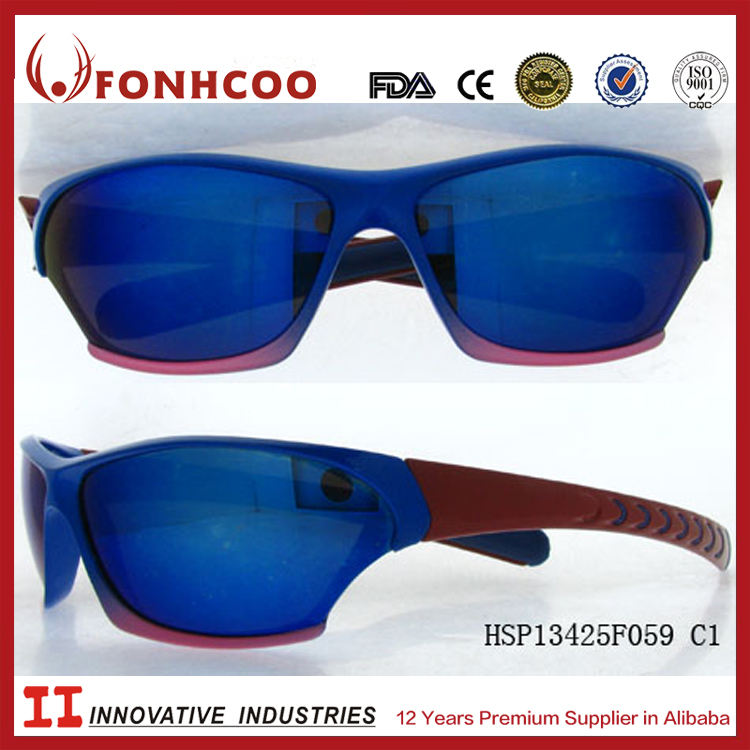 تجار الذهب الصينية fonhcoo uv400 حماية العدسة مصمم النظارات الشمسية الرياضة ce ادارة الاغذية والعقاقير القياسية