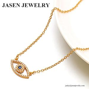 JASEN JEWELRY silver 925 gold necklace evil eye necklace for women