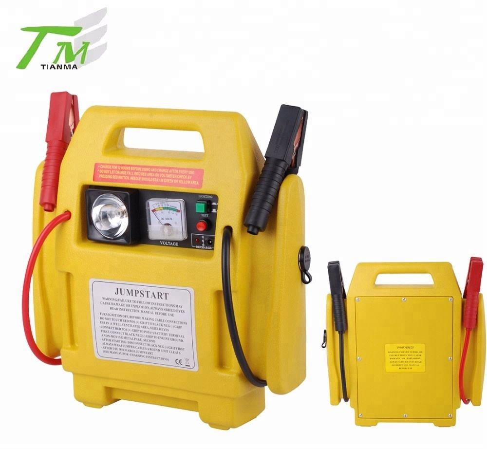 Popular 12V car battery jump starter auto power station emergency car starter with air compressor