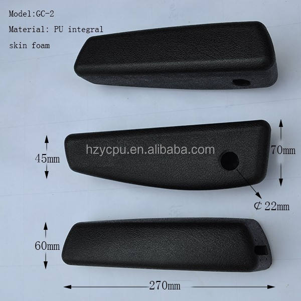 PU foam universal armrest for theater seat, bus,truck, tractor, construction vehicle