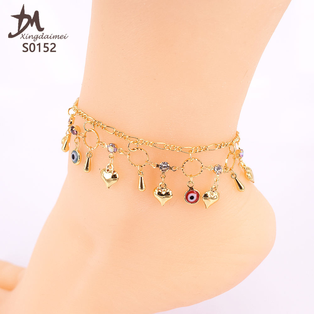 S0152 foot chain jewelry 24K gold women Anklet