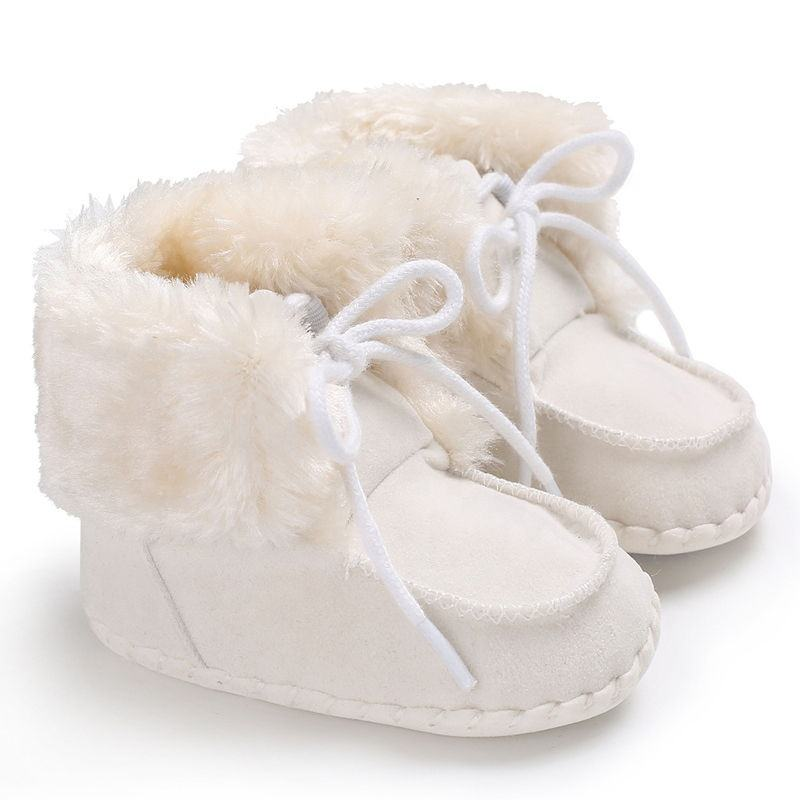 WONBO Cute Infant Baby Girls Snow Boots Newborn Baby Boy Booties Slipper Indoor Toddler First Walkers Winter Casual Shoes