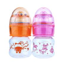 2oz new born baby food grade BPA free PP baby feeding bottle with rattles