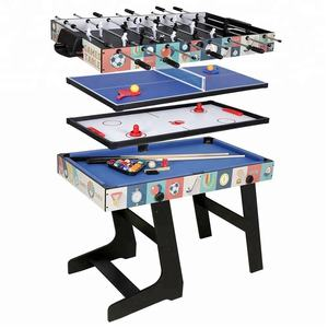 4 in 1 Multi Sport Game Tafel Combo-4 Ft vouwen Biljart/Air Hockey/Mini Ping Pong /tafelvoetbal