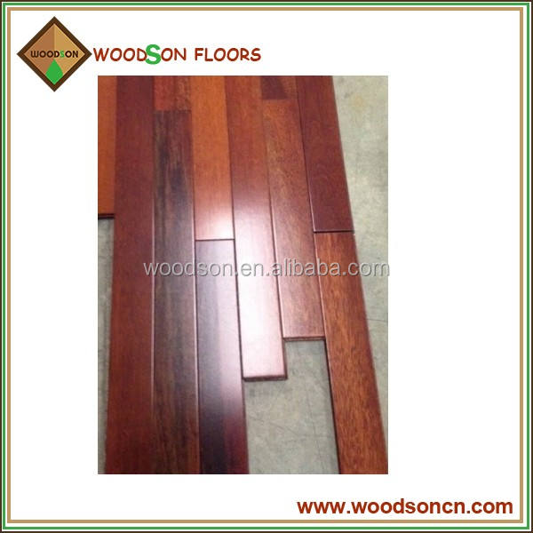 UV lacquered 90mm Wide Solid Kempas Hardwood Flooring