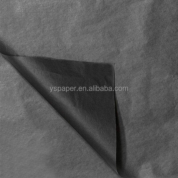 17 gsm big roll black tissue paper