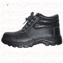 Mid cut rubber sole chemical resistant training anti smash feature high cut men's work footwear safety shoes manufacturer