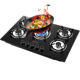 5 burners gas stove/gas cooking hob/tempered glass cooktops Built-in 76cm Factory Direct Sales