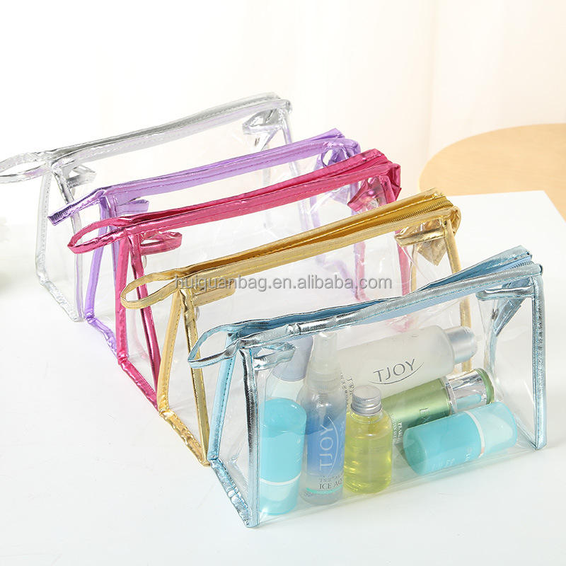 wholesale promotional gift cheap Packaging PVC transparent make up cosmetic bag from China