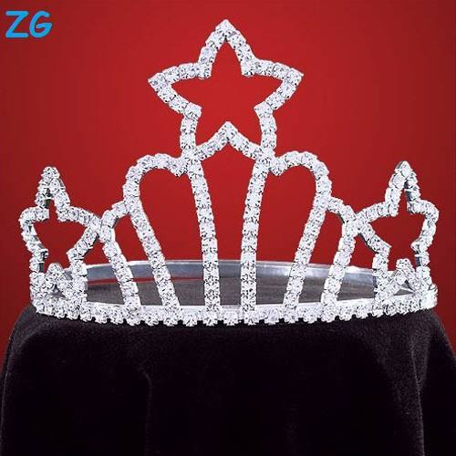 High Quality Crystal Crown Star Crowns Wholesale Hair Tiaras And Crowns Kids Princess Tiara