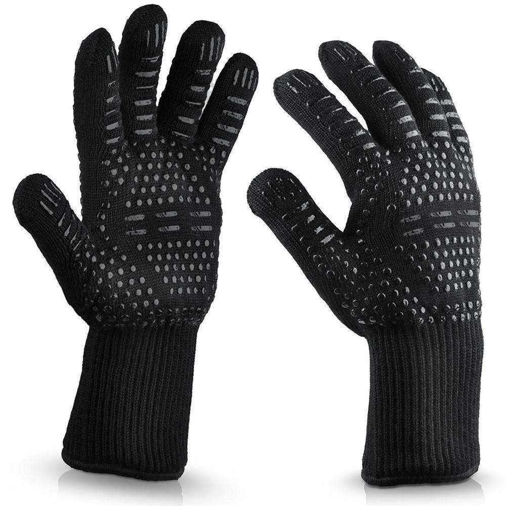 Silicone dotted 800 Degree Heat Resistant Modacrlic DEYAN barbecue gloves