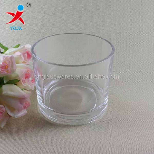 CLEAR CYLINDRICAL GLASS VASE/FLOWER GLASS VASE