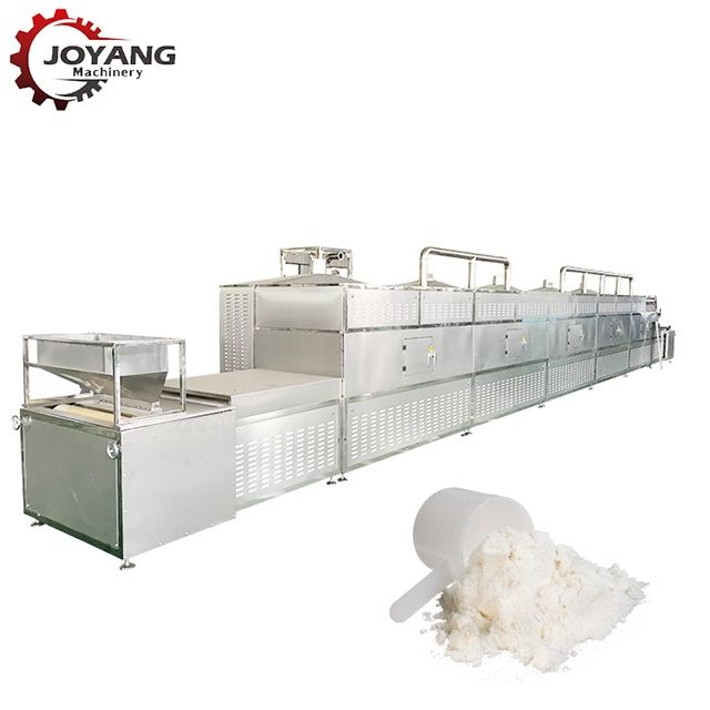 12KW High Quality Whey Proteins Tunnel Microwave Drying And Sterilizing Machine