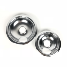 High Quality Durable Easy Cleaning 8'' Universal Fits  Chromed Drip Pan