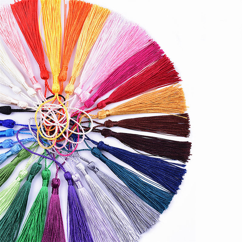 Wholesale cotton silk fringe rayon tassels for making jewelry