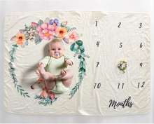 Baby Photography Monthly milestone blanket