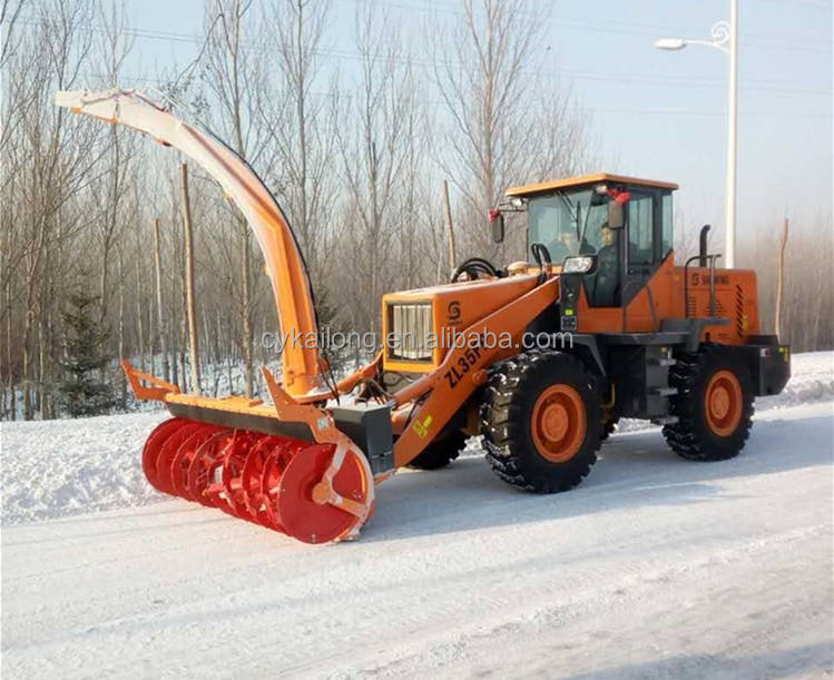 snow blower for wheel loader (front loader attachment,bobcat attachment) good sal in Russia