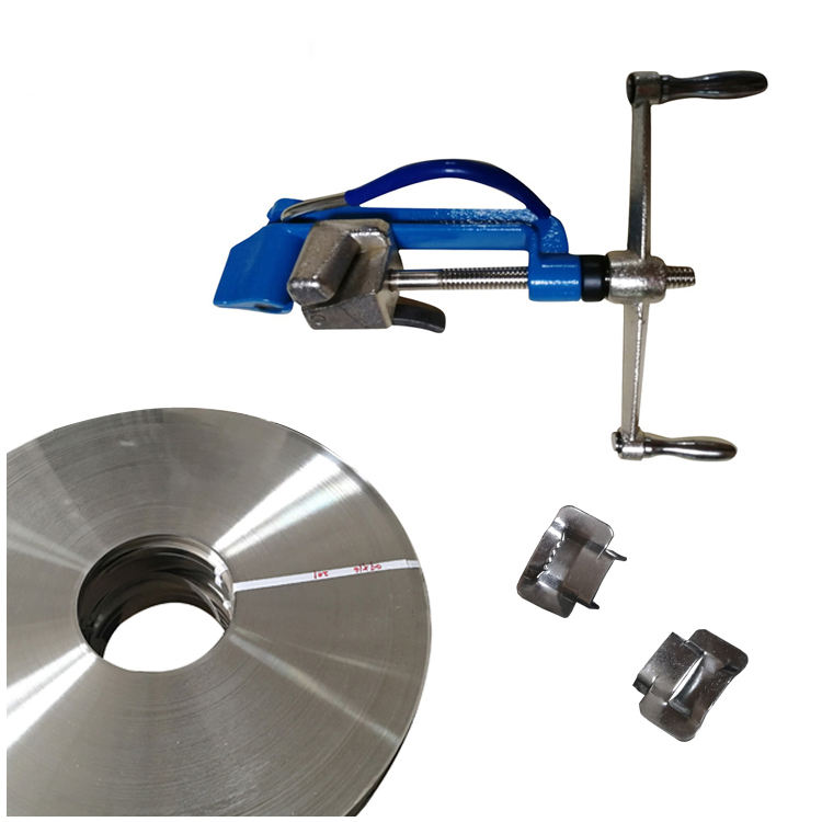 Multifungsi Stainless Manual Pallet Baja Banding Strapping Tool