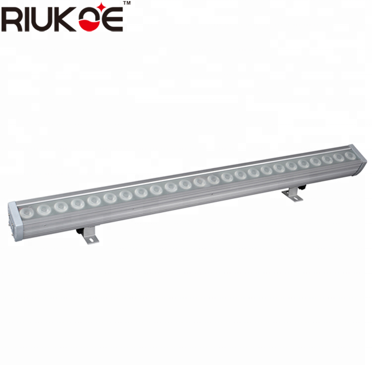 Dmx lineaire licht 24x3 w rgb led wall washer waterdichte licht IP65 met pixel controle