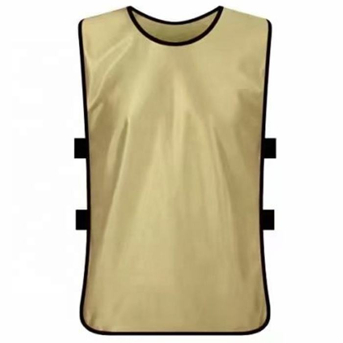 Custom gold tank top soccer football training vest bibs