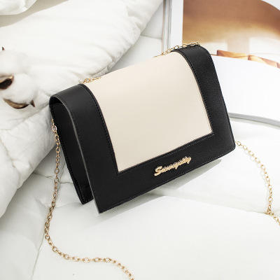 9F094 chain strap shiny shoulder bags high quality phone wallet pu leather luxury elegant crossbody girls side bag