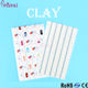 Pinpai brand White nail art stickers new feather china nail tip polymer clay
