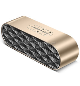 New design HIFI 2000mah 3.0+DER metal aluminium alloy wireless portable speaker with TF USB2.0 slot