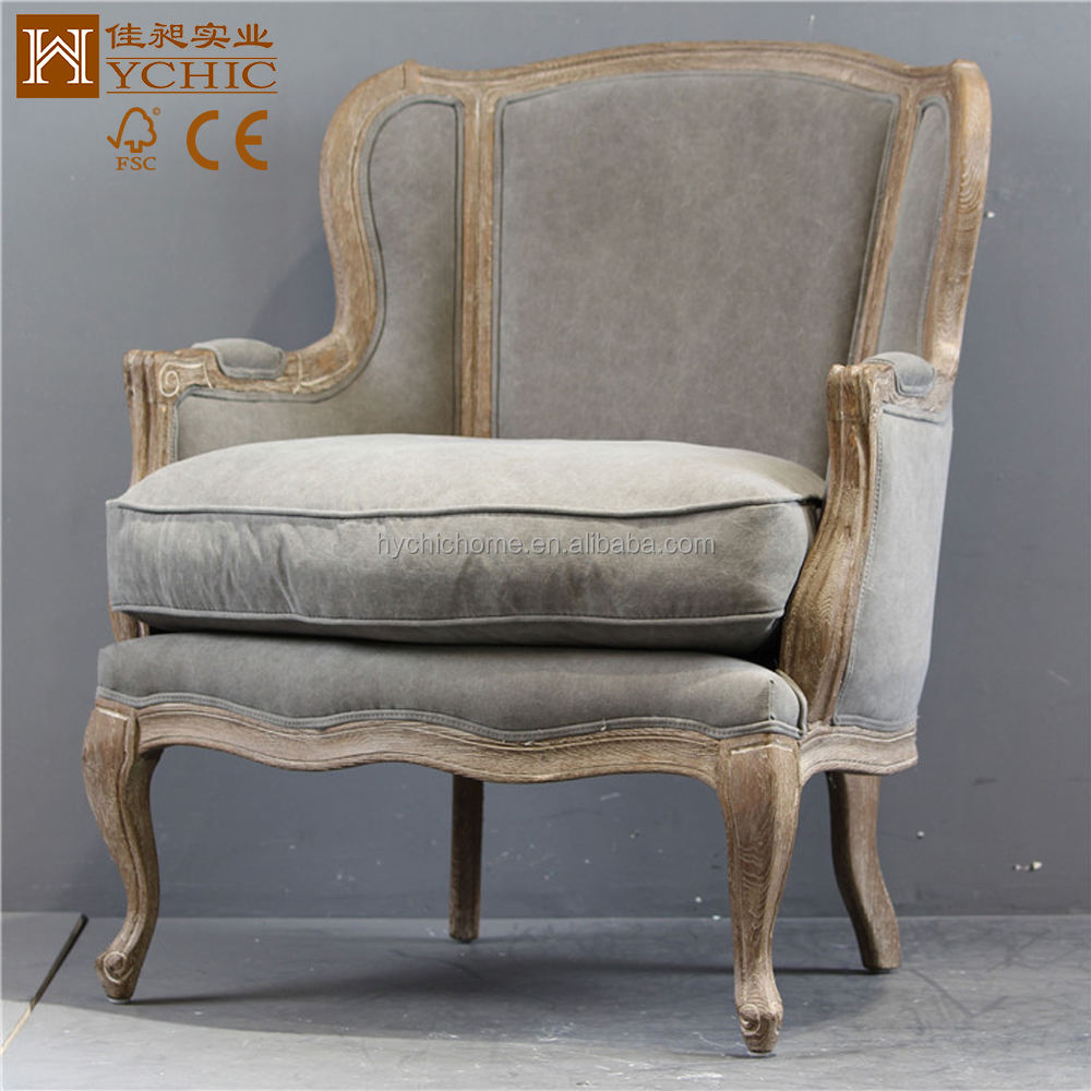 French Country Wooden Living Room Comfort Leisure Chair