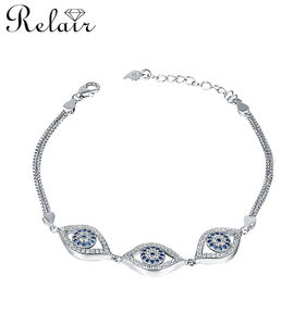 925 silver rhodium plated evil eye bracelet jewelry smart bracelet fashion jewellery