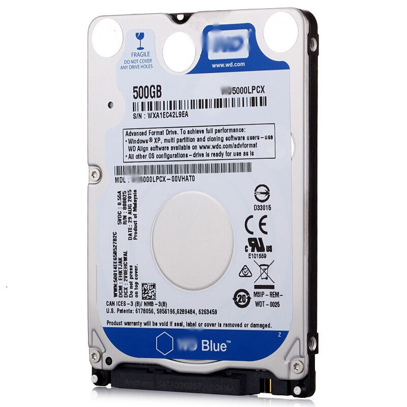 Refurbished 2.5 Inch HDD 500GB 5400 Rpm SATA 6ギガバイト/秒Hard Drive Disk For Laptop