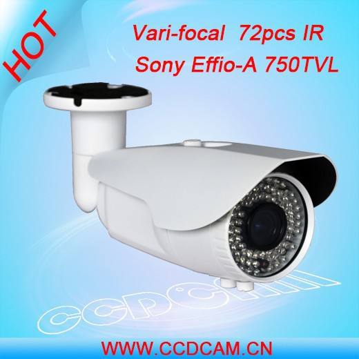"1/3"" Sony Effio-A Color HD IR Varifocal cctv waterproof camera 750 TVL for cctv"