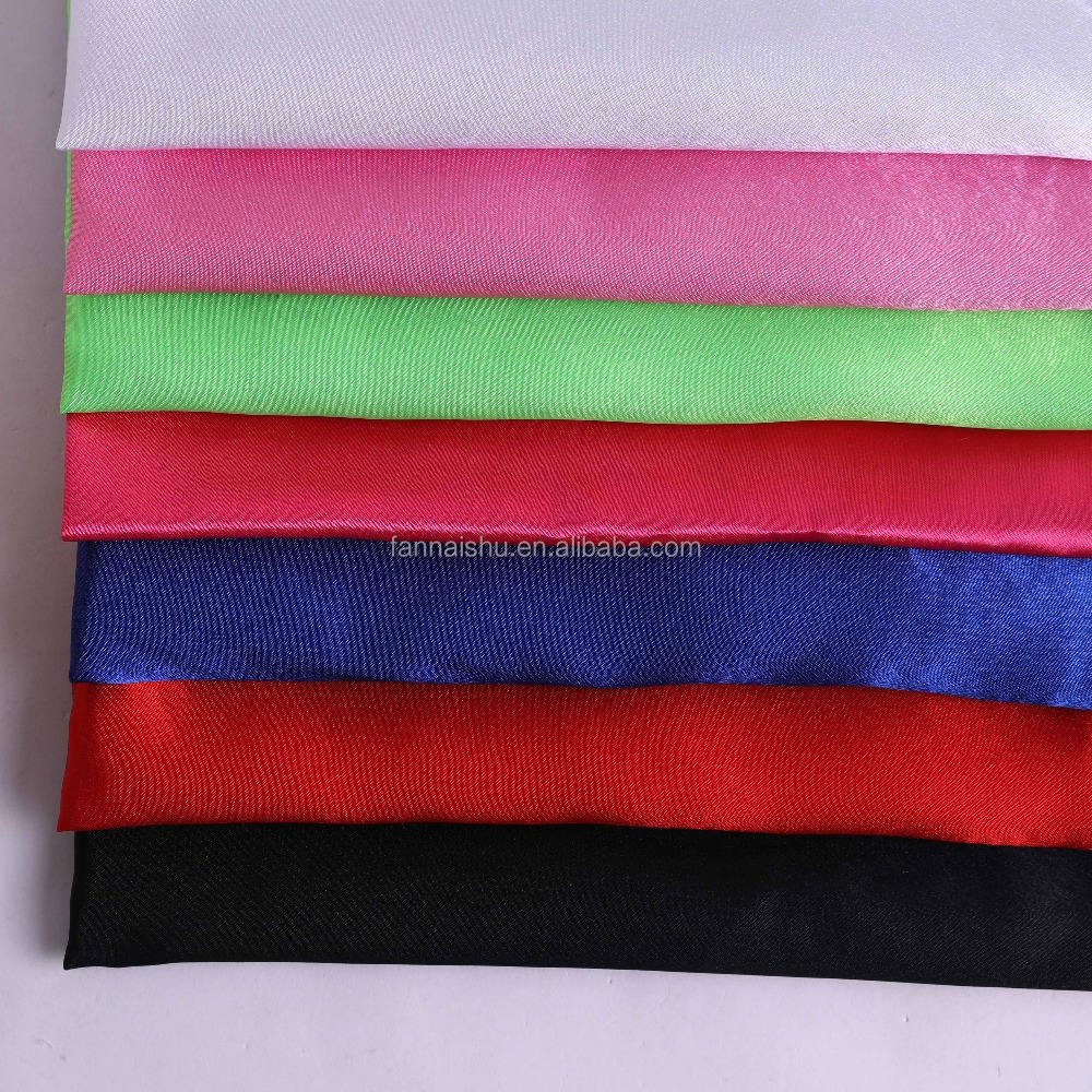 factory direct sale 100D*100D shiny twisting polyester Pucker Satin