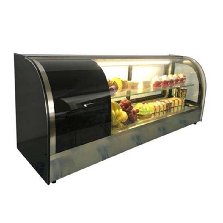 Counter Top Restaurant Display 2 Deck Sushi Mini Refrigerator Fridge Chiller