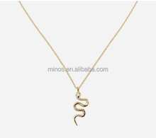 Jewelry Silver Necklace Pendant Snake Necklace