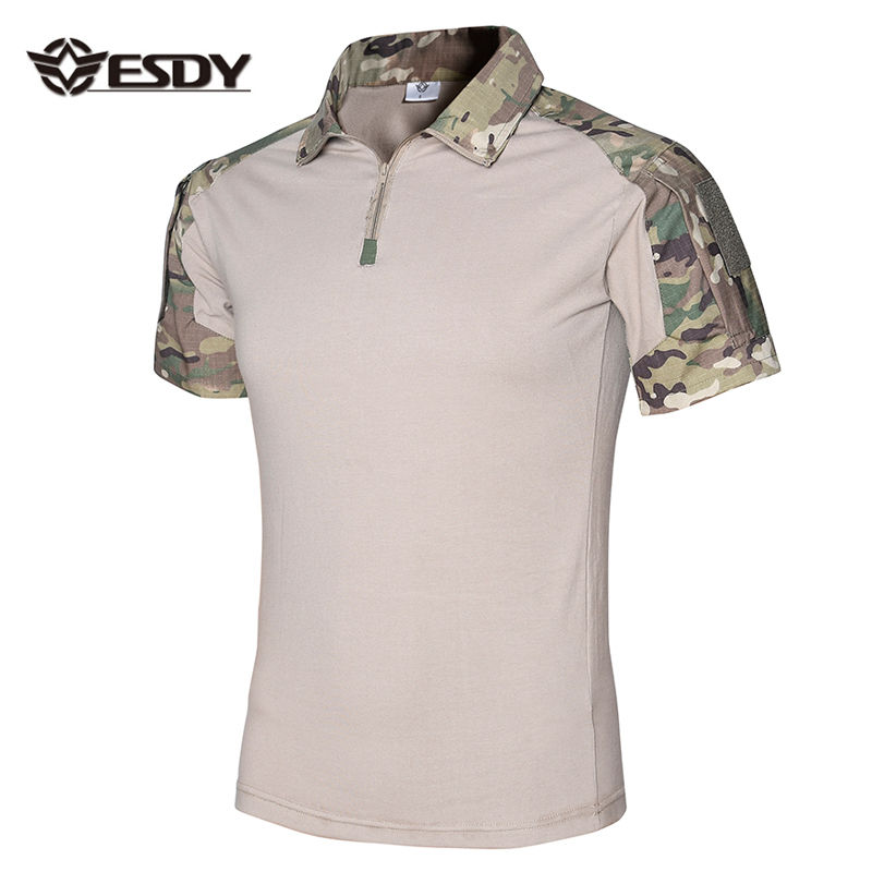 8 Colors Army Tactical Summer Outdoor Short Sleeve Camouflage T-shirt
