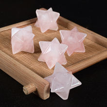 Wholesale natural gemstone Rose Quartz Merkaba for sell. Hot sell Merkaba for gifets