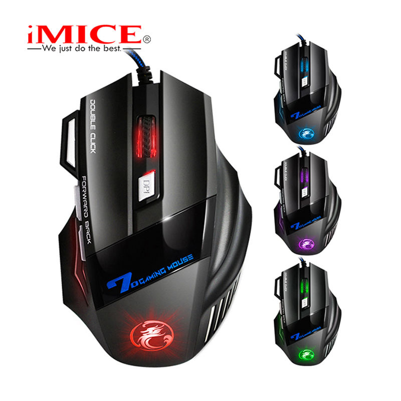 70% off 7 Keys Mouse Gaming with Colorful Breathing Light 1600 DPI Wired Gaming Mouse for Computer mechanical mouse