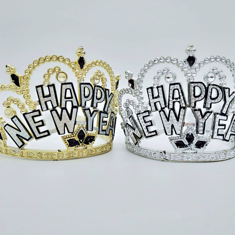 Happy New Year Holiday Tiara Headband Sparkling New Year Party Accessories