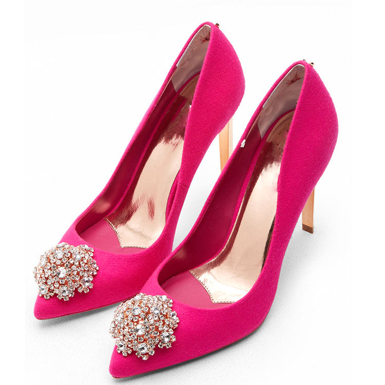 Shoes Sweet Rhinestone Shoes Bride Shoes Princess Water Drill Dress Shoes High Heels Pumps Small Big,from,35