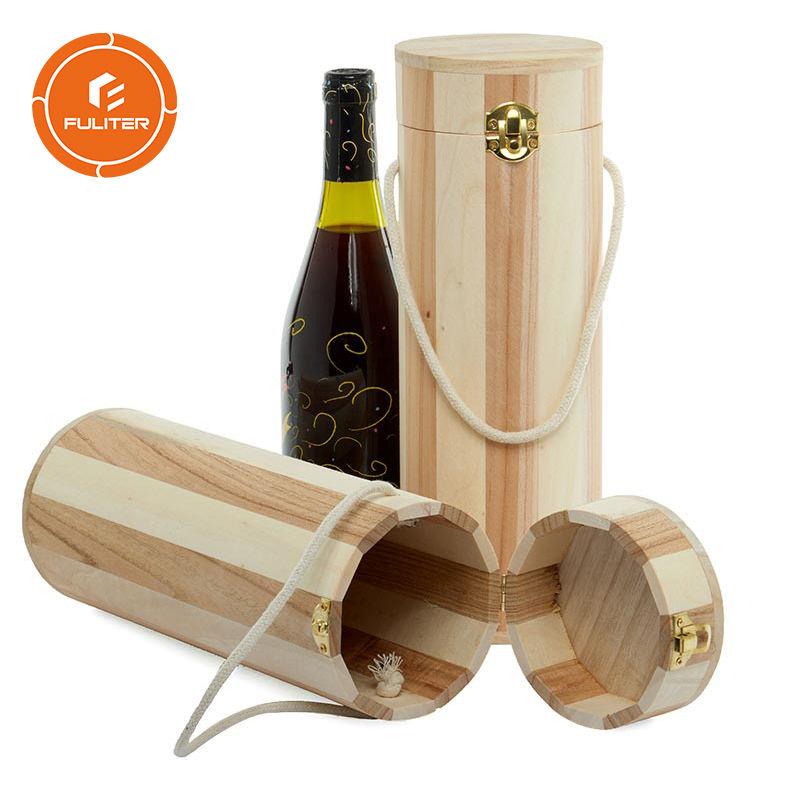 Natural Cork Wine Gift Box Bottle Round Box Gift Wine Bottle Tube New
