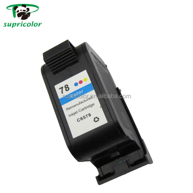 Refill third party brand compatible ink cartridge for HP deskjet printer inkjet cartridge 78 6578d