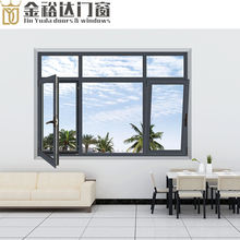 High quality Thermal break aluminium triple glazed windows